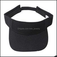 Wide Brim Caps Hats, Scarves & Gloves Fashion Aessoriesoutdoor Sport Visor Cap Hat For Travel Golf Hiking Cam Hats Summer Men Women Solid Su