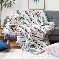 Blankets Geometric Blanket Aztec Sofa Cover Stylish Nordic Bedspreads Reversible Throw For Couch Floor Rug Koce Home Decoration