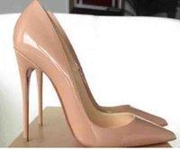 Frauenkleid Schuhe Schwarz Schaffell Nackte Patent Leder Leder GEINE GEZEHNEN FRAUEN PUMPEN, 120mm Mode LED Bottom High Heels für Womens Hochzeiten Schuh mit Kastengröße 35-43