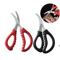 Кухонные ножницы для морепродуктов омары нарезанные креветки ножницы креветки ножи ножи колонна линией ферраменты инструменты для очистки оптом DHF6213
