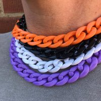 Chokers Colorful Acrylic Chain Choker Necklace For Women Men Accessories Fashion Jewerly AM3323