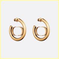 Mode Ohrstecker Hoop Frauen Ohrring Schmuck Luxus Designer Ohrringe Designer Buchstaben D Ohrring Ornamente Halsketten mit Kiste 21071302r