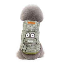 Hundebekleidung Haustier Kleidung Frosch Baumwolle grün Gelb Blauer Warm Pullover Down Parkas liefert