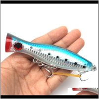 Baits Lures Sports & Outdoors Drop Delivery 2021 Rompin 12Cm 40G Big Popper Sea Lure Crankbait Iscas Artificial Wobblers Abs Hard Bait Pesca