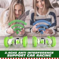 NEW RC Car 2.4G 4CH Stunt Drift Deformation Buggy Remote Control Roll 360 Degree Flip Kids Robot Cars Toys wholesale