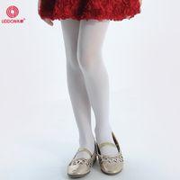 Wholesale Kid Girl Fitness White Nylon Tube Tights,Design Your Own Child Ballet Pantyhose Ttights
