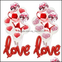 Other Festive Supplies Home & Garden10Pcs Set Romantic Anniversary Wedding I You Balloons Set Heart Ballons Valentine Day Gift Decorations F
