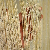 Knitted Home 200 *100cm Shiny Tassel curtain Flash Silver Line String Curtains Window Door Divider Sheer Curtain Valance Home Decoration