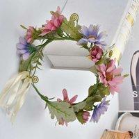 headbands Women's exaggerated head flower hairband simulation chrysanthemum beach cloth bulk