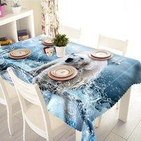 Tischdecke Niedliche Eisbär-Muster Rechteckige Staubstoff im Freien Hochzeit Bankett Dekoration Tisch Haushaltsgegenstände