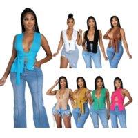 2021 Tanks der Frauen Einfache ärmellose gestrickte Crop Pullover Sexy Herbst Sommer Mode Weste Schwarz Beiläufiger Weißer Jumper Top Weibliche Pullover Y2k