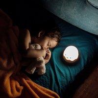 Lampe de nuit pour enfants bébé Lampe de pépinière avec commandes tactiles Lampe de chevet pousstite mignonne pour allaitement allaiter une lumière rechargeable USB 1345 v2