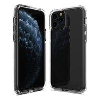 Ultra Clear 2 en 1 Cas de téléphone transparent pour 12 11 Pro Max Mini XR XS X 8 7 6 Plus Samsung S21 Fe Note20 A32 A51 A71 4G A72 A52 A42 A22 A12 5G A02S Redmi Note 10 Moto G Play