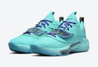 Zoom Freak 3 Canlı Aqua Basketbol Ayakkabı Yüksek Qualtiy Turuncu Proje 34 Erkekler Kadınlar Spor Ayakkabı Sneakers ile Kutusu Boyutu US7-US12