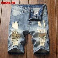 Мужские джинсовые шорты плюс размер 2020 летней повседневной джинсовой короткой уличной одежде прямые джинсы байкер короткие хлопковые бермуды Hombre1