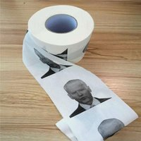 Novelty Joe Biden Toilet Paper Napkins Roll Funny Humour Gag Gifts Kitchen Bathroom Wood Pulp Tissue Printed Toilets Papers Napkin