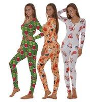 유럽과 미국의 새로운 여성 패션 의류 할로윈 인쇄 가을과 겨울 잠옷 깊은 V 목 나이트 클럽 스타킹