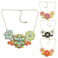 necklace Xiaoqing Xinfeng splicing candy color series flower short nelace versatile clavicle chain for women