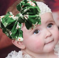 Christmas Stretch Baby Girl Hair Accessories Headband Newborn Clips Infant Flower Hairband Photo Prop Gift