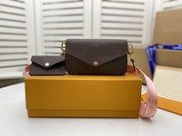 Moda Crossbody Bolsos de hombro Mujeres 4 colores Messenger Bag 2 PCS de alta calidad