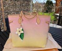 Mulher bolsa bolsa grande capacidade de alta qualidade 2021 popular moda luxurys bag designers saco nunca urbano estilo completo 2 peças conjunto