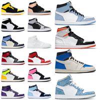 ayakkabı nike air jordan retro 1 jordans mid milan 1s Basketbol ayakkabıları jumpman Erkek Kadın mocha obsidian unc low fearless high og spor ayakkabı eğitmenleri