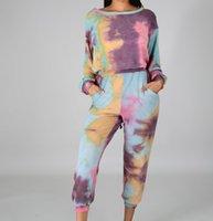Mode Alte Mädchen Krawatte Kleidung Sets Große Kinder Backless Lace-up Langarm Tops + Casual Hose 2 stücke Frauen Sport Outfits A7204