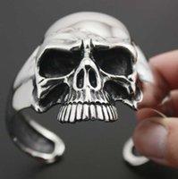 Metal Heavy-duty Skull Motorcycle Gothic Punk Style Bracelet Men's Jewelry Rock Hip-hop Party Gift
