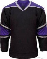 Hombre Vintage Hockey Jerseys Inicio Rojo Blanco Camisas cosidas en blanco Nombre personalizado Logotipo Tamaño S-XXXL Hombres Niños Mujeres Mujeres Negro 001