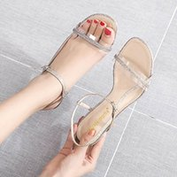 Dress Shoes Gold silver Crystal Clear Narrow Band Slingback Pumps Women Gladiator Sandals Fairy Open Toe Thin High Heels Woman 2021