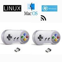 2 Pack Wireless Controller USB Gaming Joystick SNES Game Pad Windows PC Mac Computer Raspberry PI Sega Genesi Emulatore