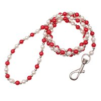 Dog Collars & Leashes Luxury Beaded Pearl Leash Pet Cat Chain Leads For Collar Accessories UV Rays Luminous Bead Lead