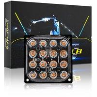 16 LED 자동차 깜박임 비상 스트로브 라이트 트럭 트레일러 위험 경고 신호 램프 측면 정지 조명