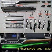 Farben LED Umgebungslicht für Highlander 2021 Außenzubehör Interiorexternale Lichter