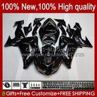 OEM Bodywork For KAWASAKI NINJA ZX1000 ZX-10R ZX1000CC 06-07 Moto Body 14No.1 ZX 10R 10 R 1000 CC 1000CC 2006 2007 ZX10R 06 07 ZX1000C 2006-2007 Fairings glossy black
