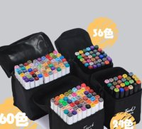 Two-headed 48-color Marker, alcohol-based, oil-based black cartoon marker set 2021 the latest waterproof painting exercise portable DIY coloring