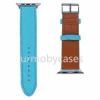 Bandas de relojes de diseño para Apple Iwatch 2 3 4 5 Multicolor Imprimir Modelo de moda 38 / 40mm 42 / 44mm Calidad Reloj de cuero