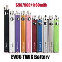 EVOD Twist Batterievariable Spannung Einstellbar 3,3 ~ 4.8V 650mAh 900mAh 1300mAh USB-Ladegerät Slim Vape-Stift für 510 Thread MT3 CE4 CE5 CE6 Zerstäuber Tankwagen