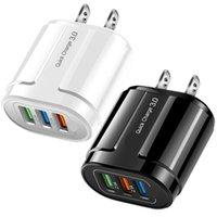 Universal Quick Charge QC3.0 3 Porte USB 1 2 Porta Caricabatteria da parete Adattatore di alimentazione per iPhone 7 8 x Samsung Huawei PC Android PC