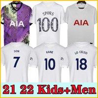 21 22 Kane Son Bale Bergwijn Tottenham Dele Soccer Jerseys 2021 2022 Lucas Ndombele Shirt Football Tops Garçons Sets uniformes avec