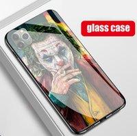 TPU + Vidro Temperado Comics Joker Capas telefônicos para Apple iPhone 12 Mini 11 Pro Max 6 6 6 7 8 Plus X XR XS MAM SE2 SAMSUNG S8 S9 S10 E S20 S21 Ultra Nota 9 10 Celular Shell Capa