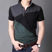 Летние короткие рукава Harajuku Корея мода полосатые рубашки поло мужчин топ-тройник одежда 210707