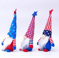 US Stockpcs Gnome patriótico 50pcs para celebrar o Dia da Independência Americana Day Anão Boneca 4 de julho artesanal bonecos de pelúcia ornamentos
