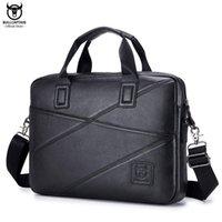 Bullcaptain 2020men의 서류 가방 비즈니스 핸드백은 15 인치 노트북 캐주얼 어깨 메신저 가방 가죽 가방 남자 Q0112에 사용할 수 있습니다.