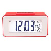 Other Clocks & Accessories Digital LED Alarm Student With Week Snooze Watch Electronic Table Calendar LCD Desk Timer