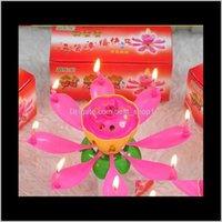 Décor Home Garden Drop Доставка 2021 Пластиковый Цветок Лотос Форма Свеча Однослойный Мэтический Цветущий День Рождения Боужи Эко Другие загрязнение CA