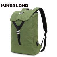 Kingslong Erkekler Su Dayanıklı Sırt Çantası Seyahat Seyahat Çantaları Için USB Şarj Dizüstü 15.6 Laptop Sırt Çantası Okul Sırt Çantaları 618 210309