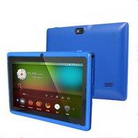 "Allwinner A33 Quad Core Q88 Q8 Tablet PC Dual Camera 7"" 7Inch capacitive screen Android 6.0 1GB 8GB Wifi Google play store flash C-7PB"