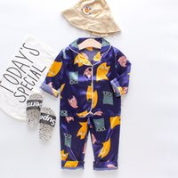 Chemison à manches courtes Tops + Shorts Sleep Heightwear Pyjamas Vêtements Enfants Baby Pajama Ensembles garçons Filles Dessin animé Deer Tenuilles Ensemble 1128 Y2