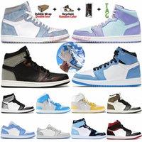 1 Tamanho 36-47 Com Box Socks Jumpman 1 1s Tênis de basquete masculino Travis Scotts Obsidian UNC Sports Trainers tamanho 13